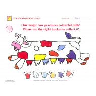 Use right bucket to collect colourful milk