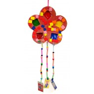Colorful flower with hanging beads