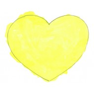 Use watercolor to paint a heart