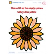 Fill up the empty spaces with yellow petals